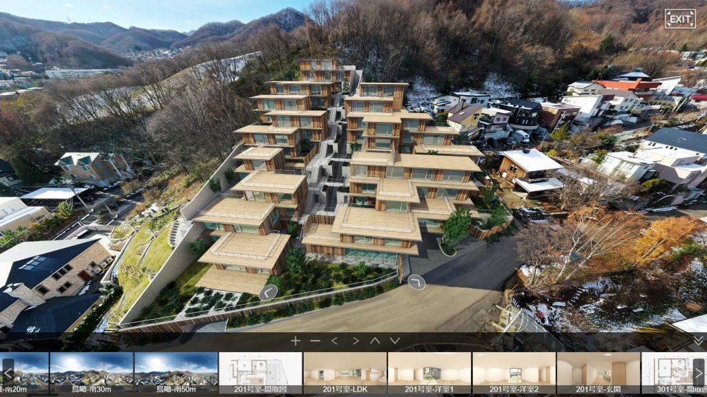 プロスタイル札幌 宮の森の鳥瞰イメージ